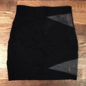 Aritzia Bandage Vegan Leather Mini Skirt